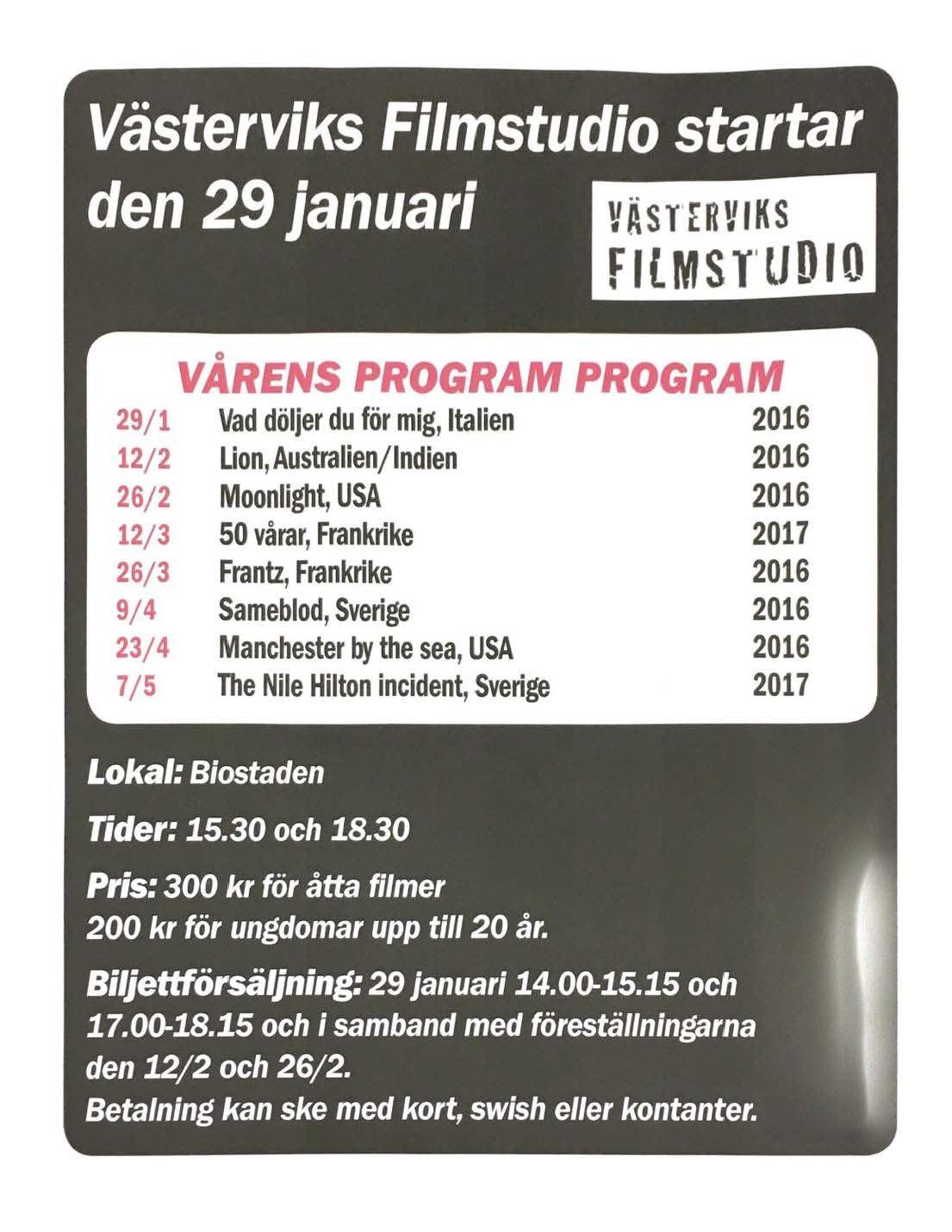 Västerviks Filmstudio 2018