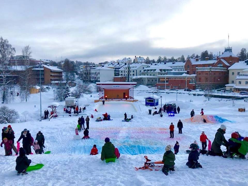 Vinterpark i Sollefteå Stadspark
