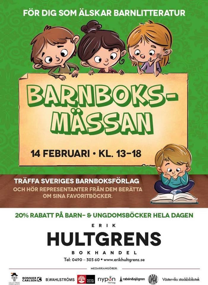 Barnboksmässa på Erik Hultgrens Bokhandel