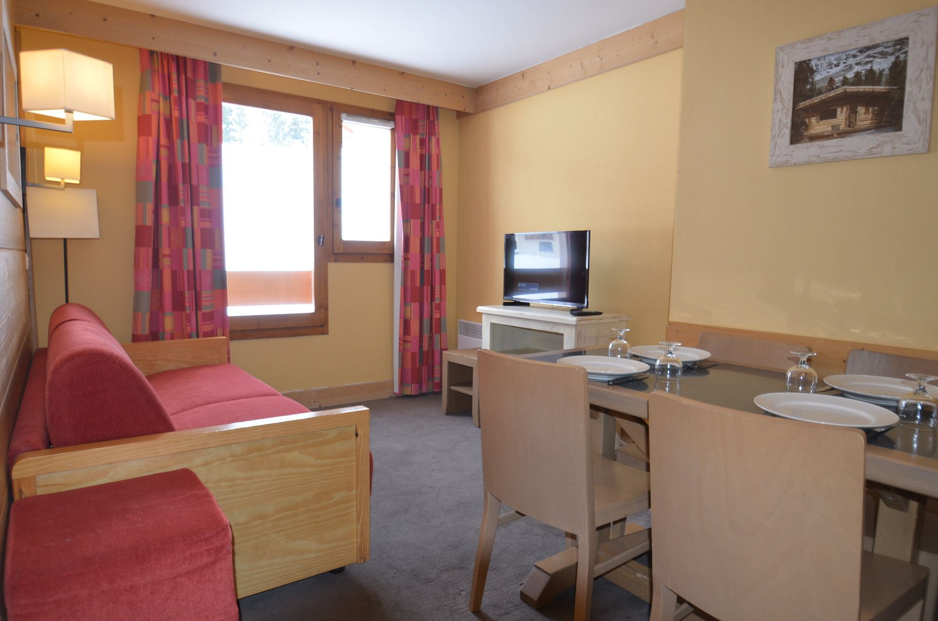 2 Room 4 Pers ski-in ski-out / Aconit 202
