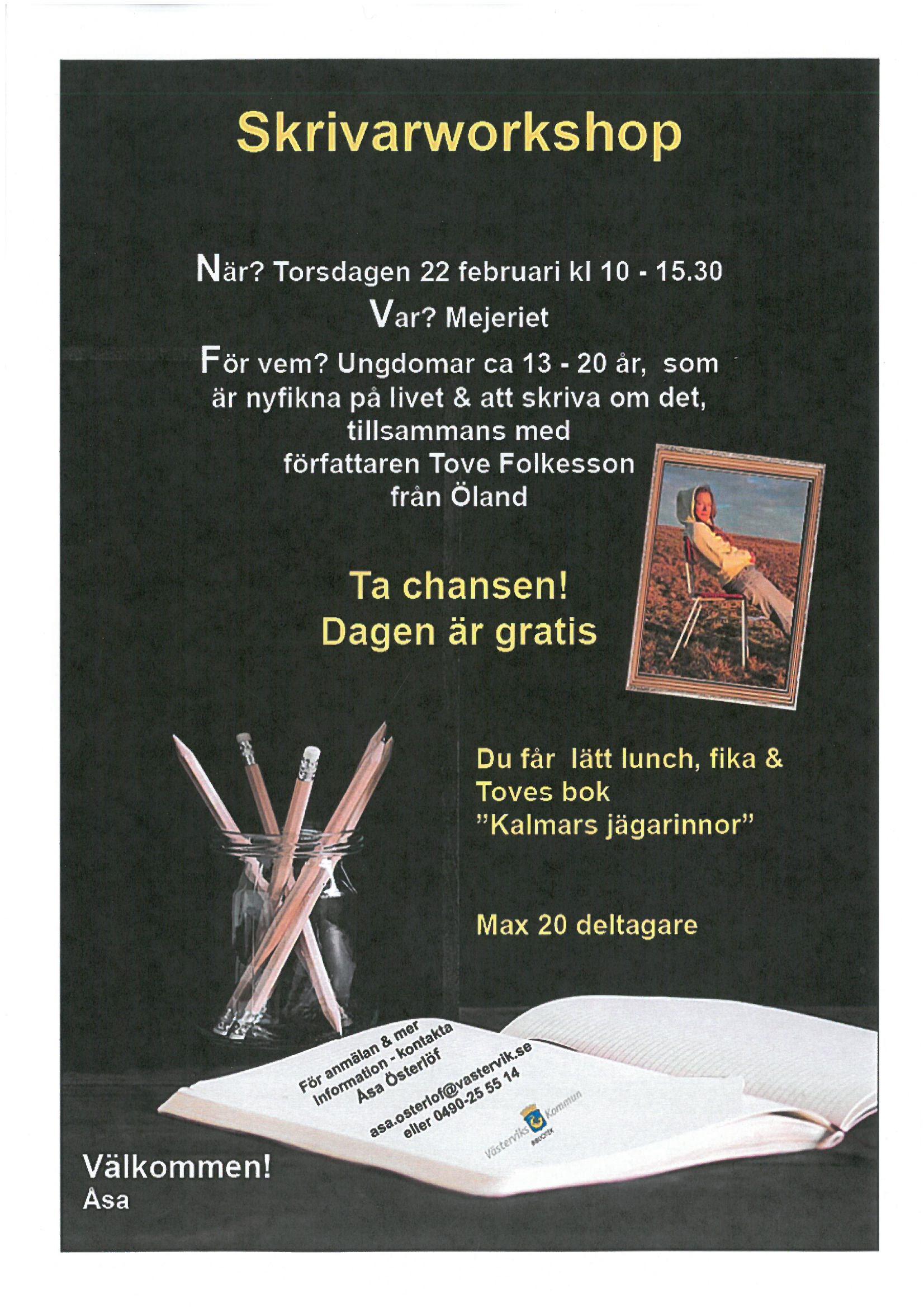 Skrivarworkshop på Mejeriet i Västervik