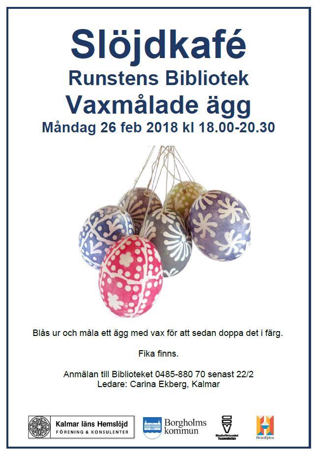 Slöjdcafé i Runstens bibliotek!