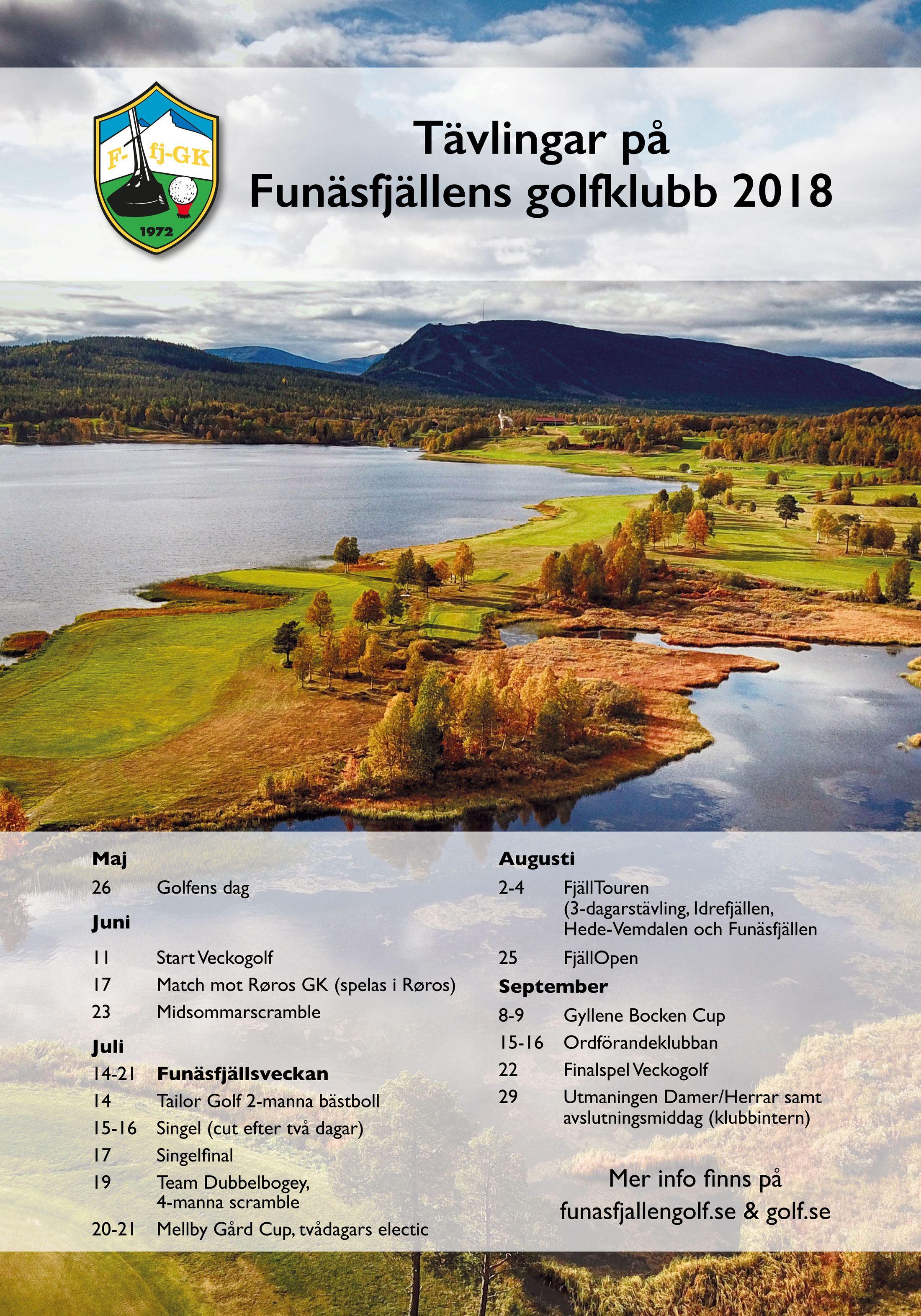 Tävlingar på Funäsfjällens golfklubb 2018