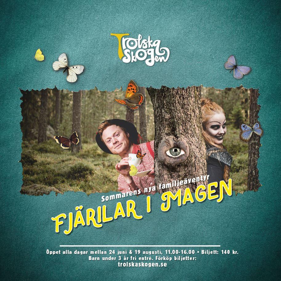 Trolska Skogen - sommaren 2018, Fjärilar i magen,  © Trolska Skogen - sommaren 2018, Fjärilar i magen, The Enchanted Forest, mellanfjärden, sweden