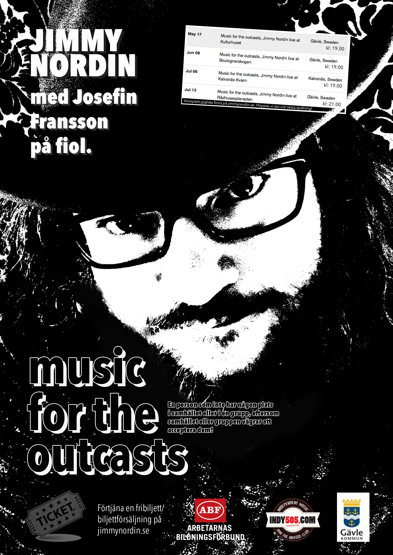 Konsert med Jimmy Nordin + Josefin Fransson (på fiol) Boulognerskogen, stora scenen