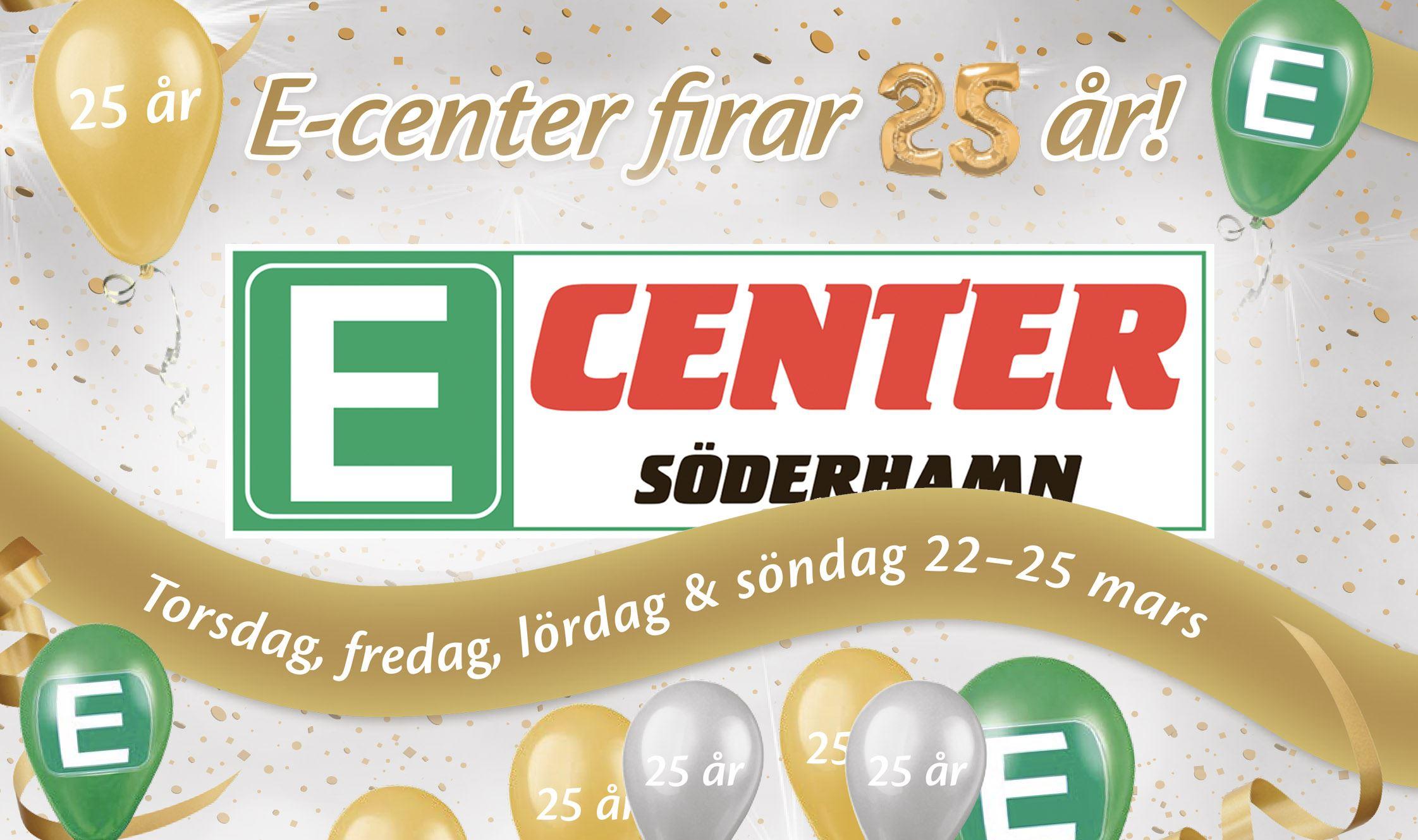 25-års firande på E-Center