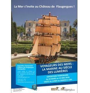 """Exposition : """"Voyageurs des mers : la Marine au siècle des Lumières"""" au Château de Flaugergues"""