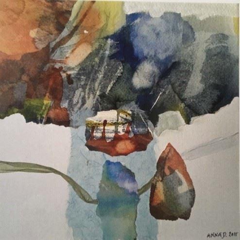 Anna Dellermalm - Collage på duk