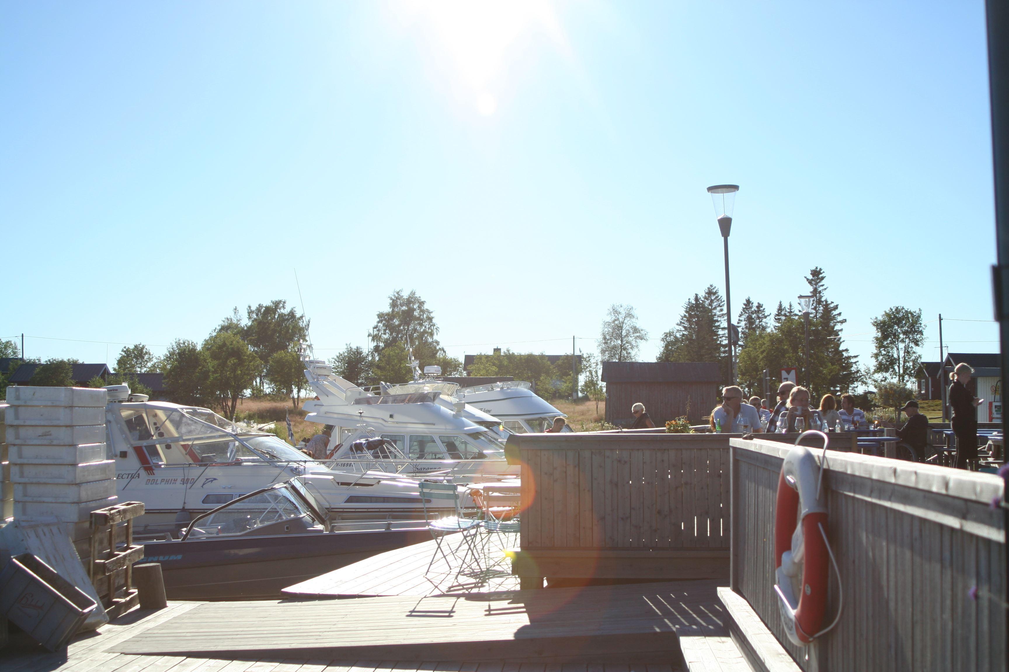 Ställplats och gästhamn vid Kvarkenfisk