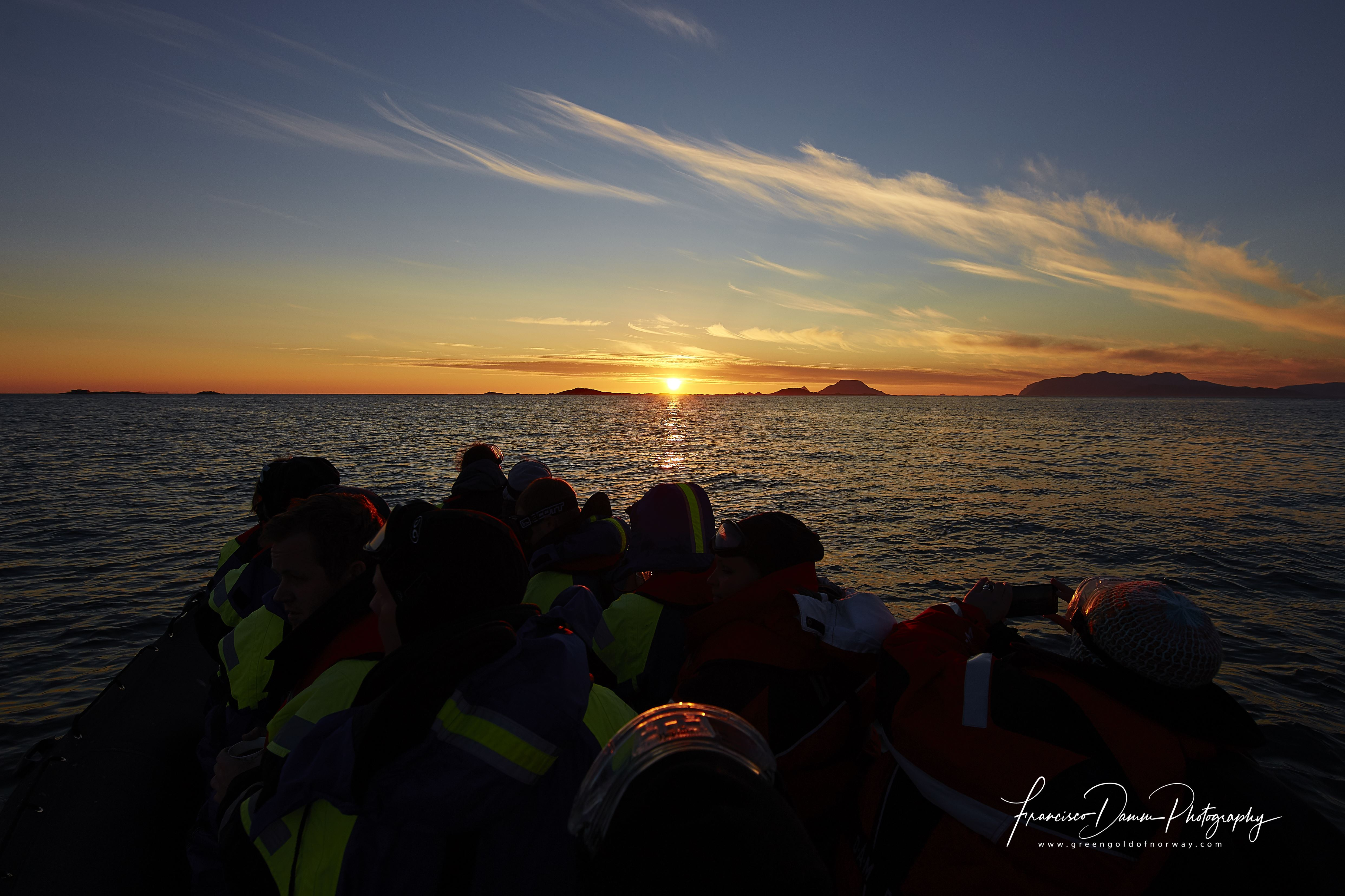 Midnight Sun photo safari by RIB Boat - Green Gold of Norway