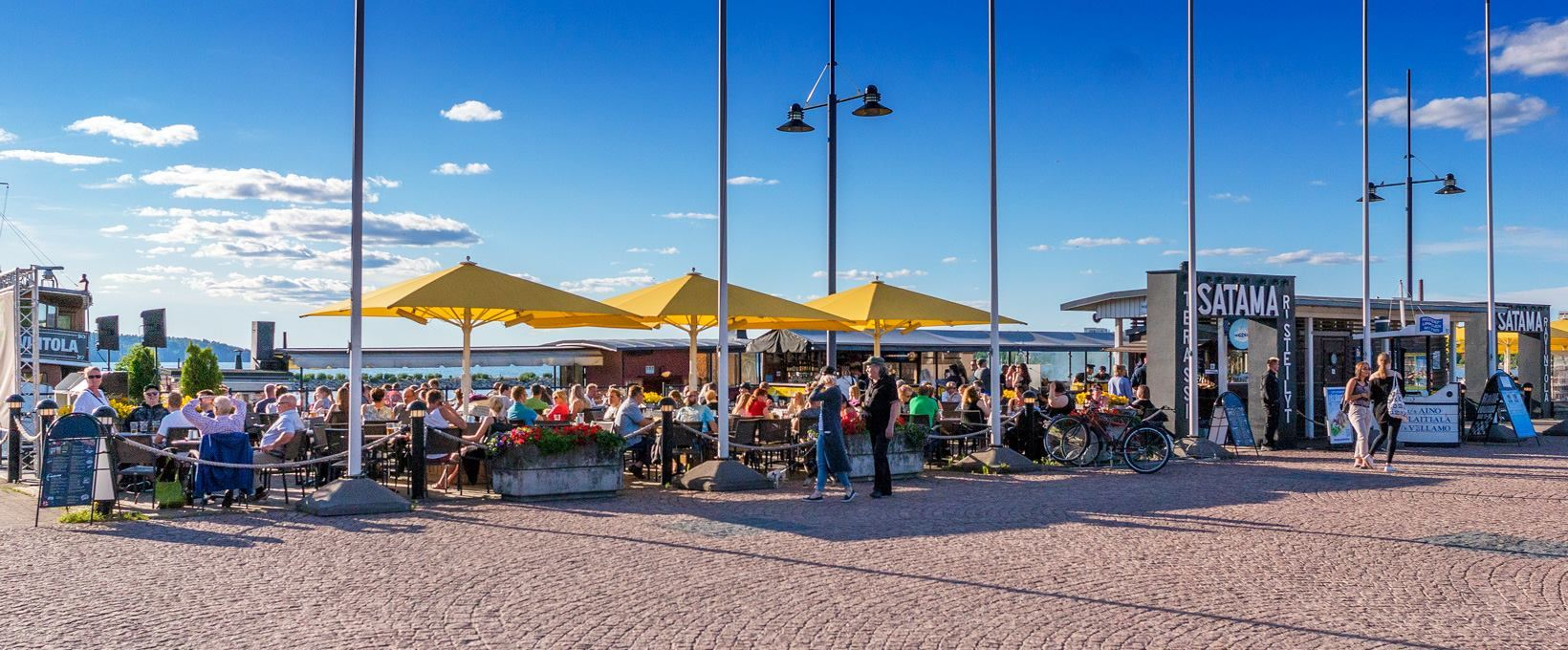 Lahti Harbour | Terrace restaurant Satama