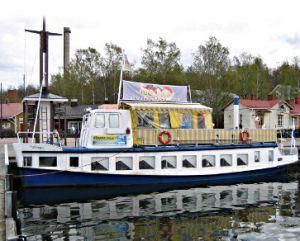 Lahti Harbour   Ice cream boat Banana Split