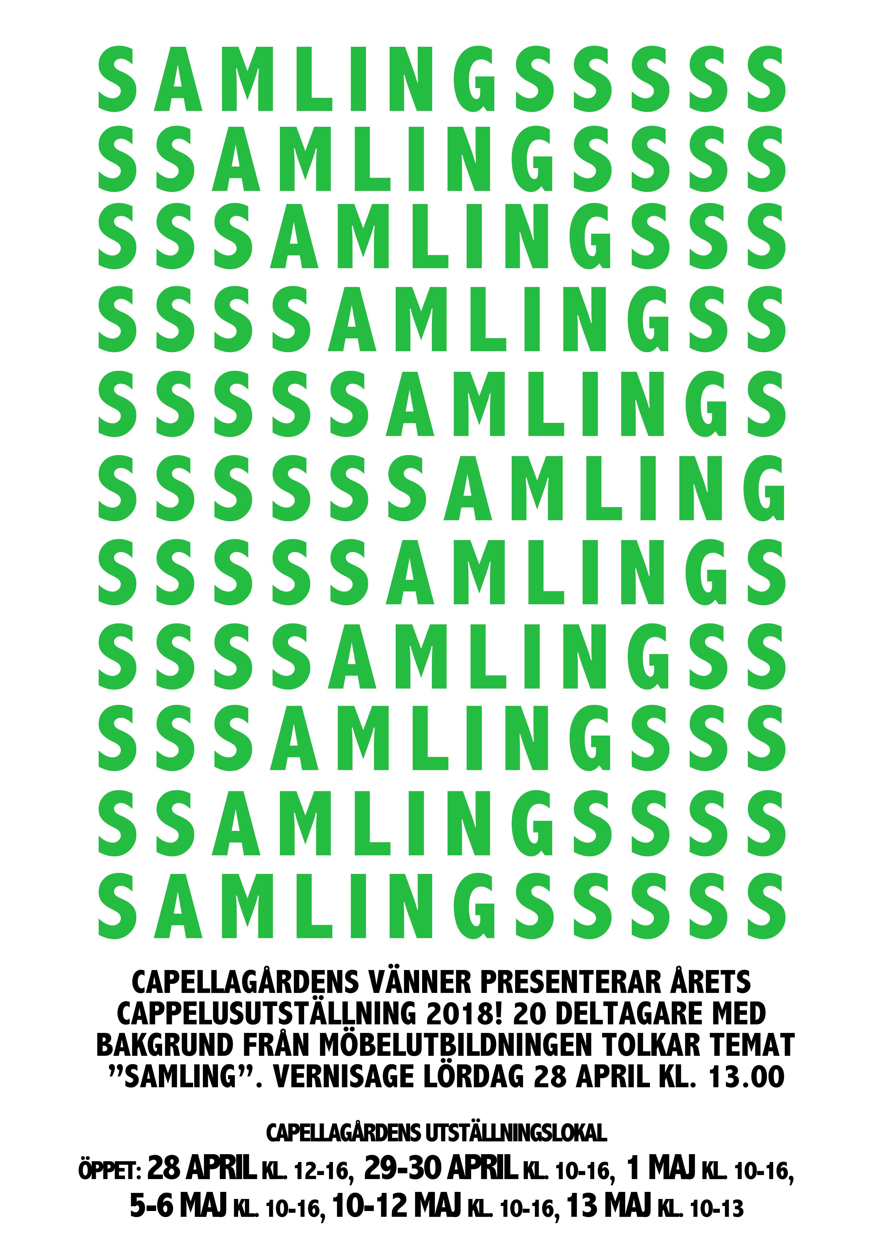 SAMLING - årets Capellusutställning