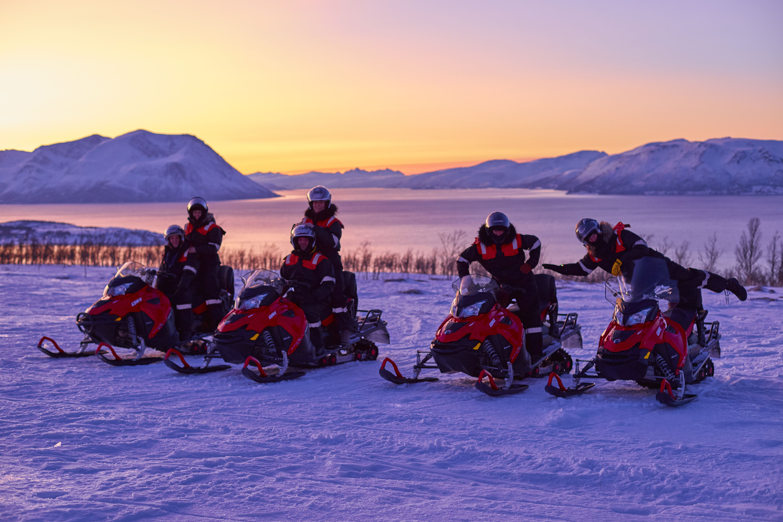 Snowmobile Safari in the Beautiful Northern Lyngen Alps - Green Gold of Norway