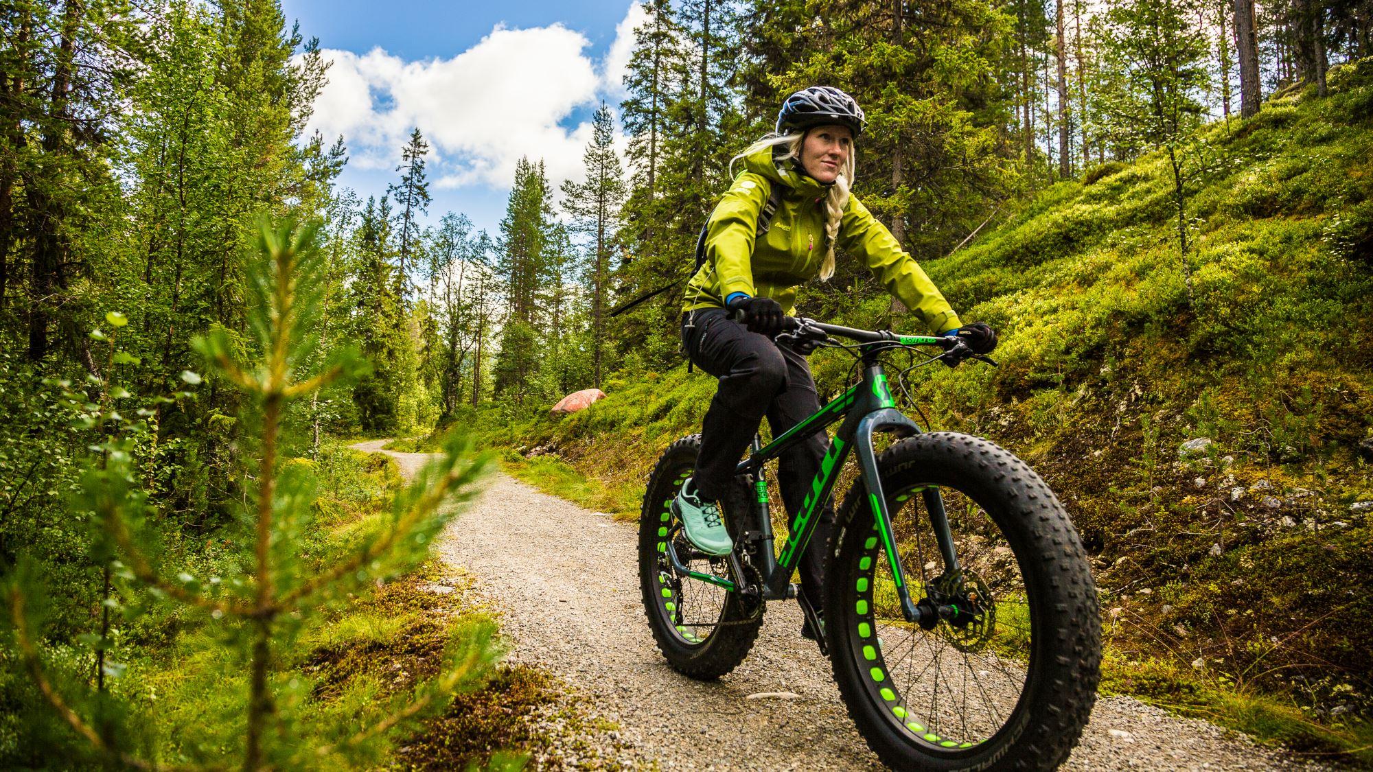 Martin Olson, En cyklist på en Fatbike