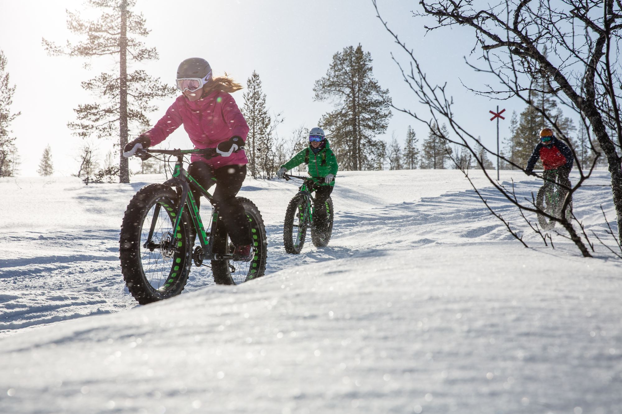 Anette Andersson, Cykla fatbikes på vintern