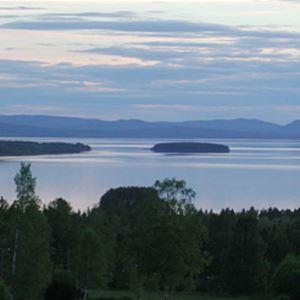 Utsikt över sjön Siljan från hotellet.