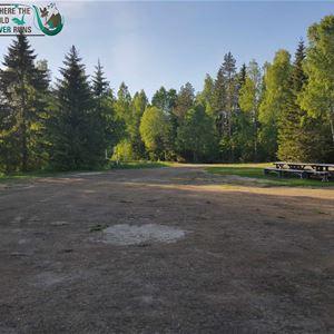 Scenic wilderness camp