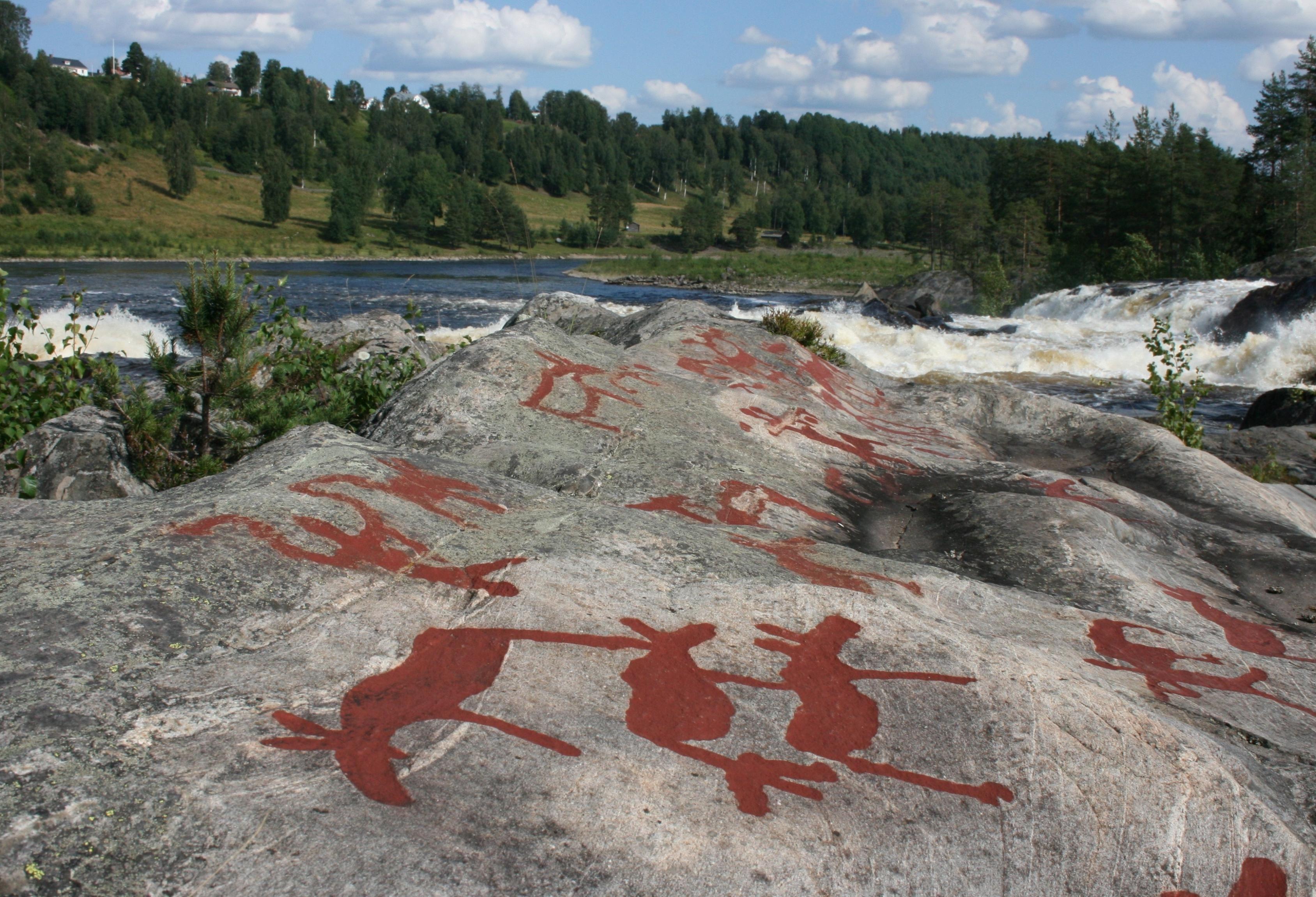 Siv Bylund,  © Siv Bylund, Petroglyphs at Nämforsen