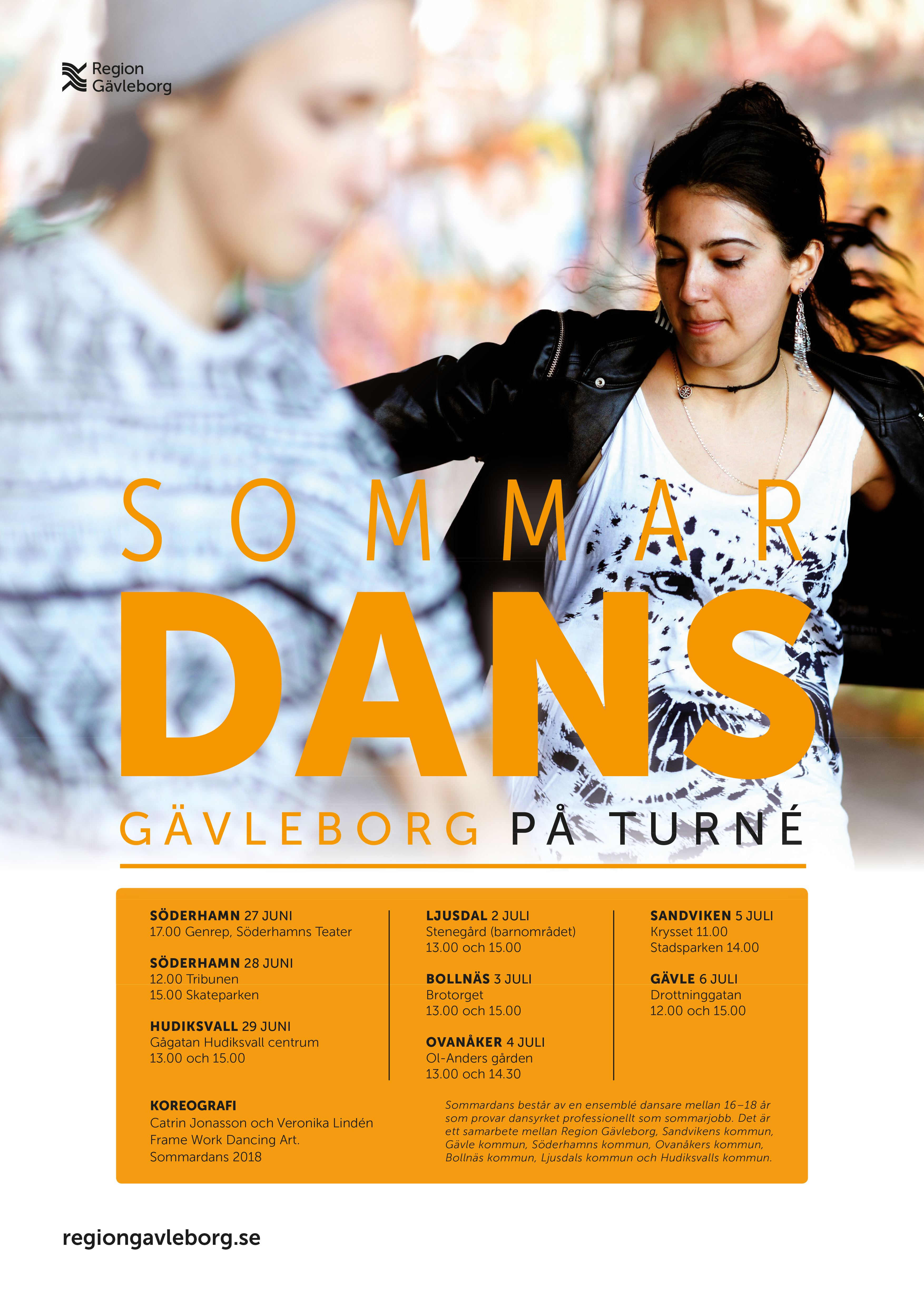 Sommardans på turné i Söderhamn