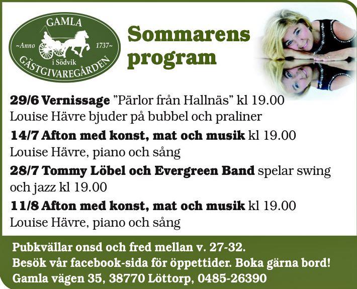 Sommarens Program hos Södviks Gästgivaregård