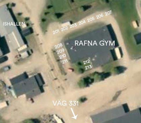 "Lastbilsträffen campingplatser ""Rafna Gym"""