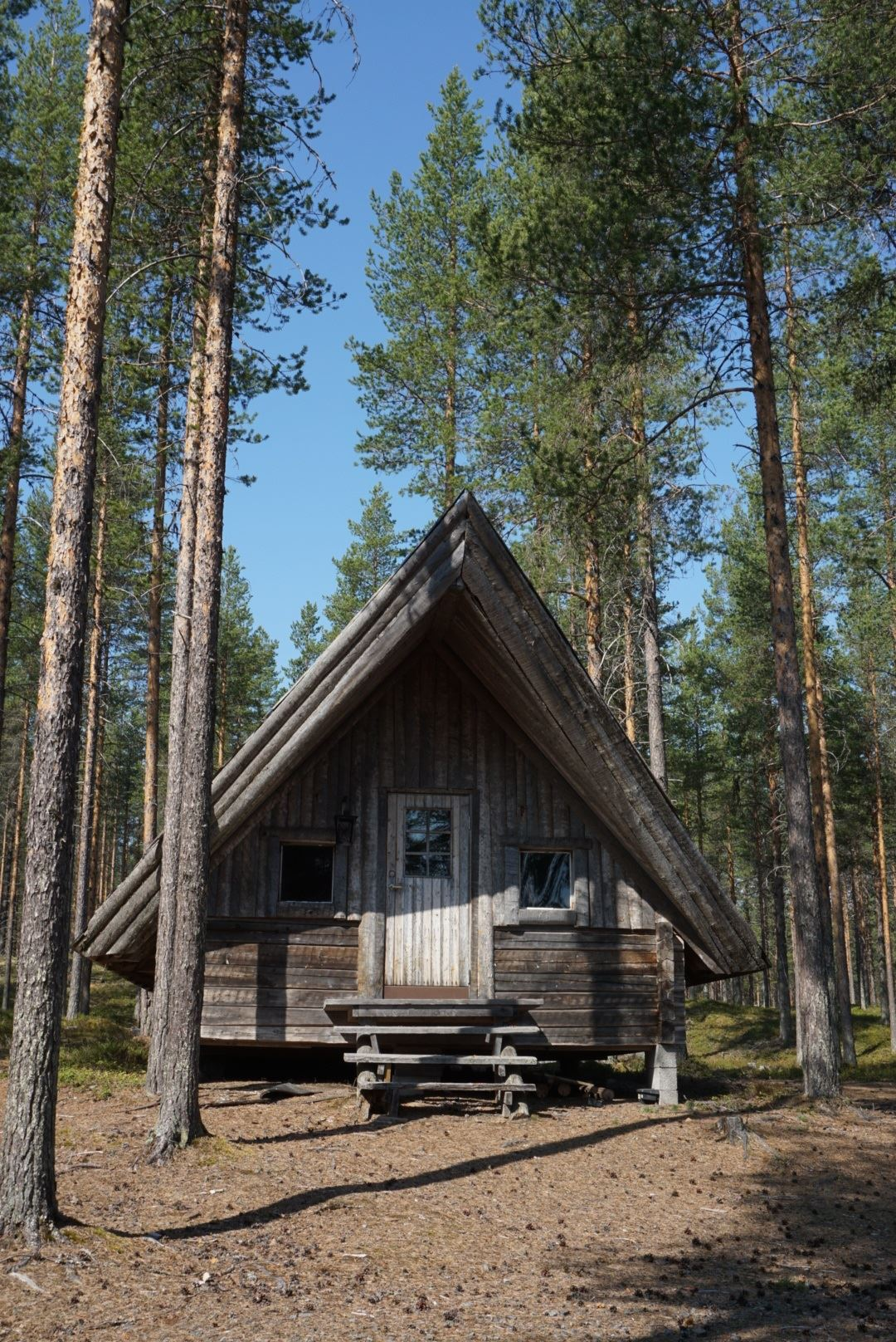 Forest cottages at Wilderness camp Vikheden