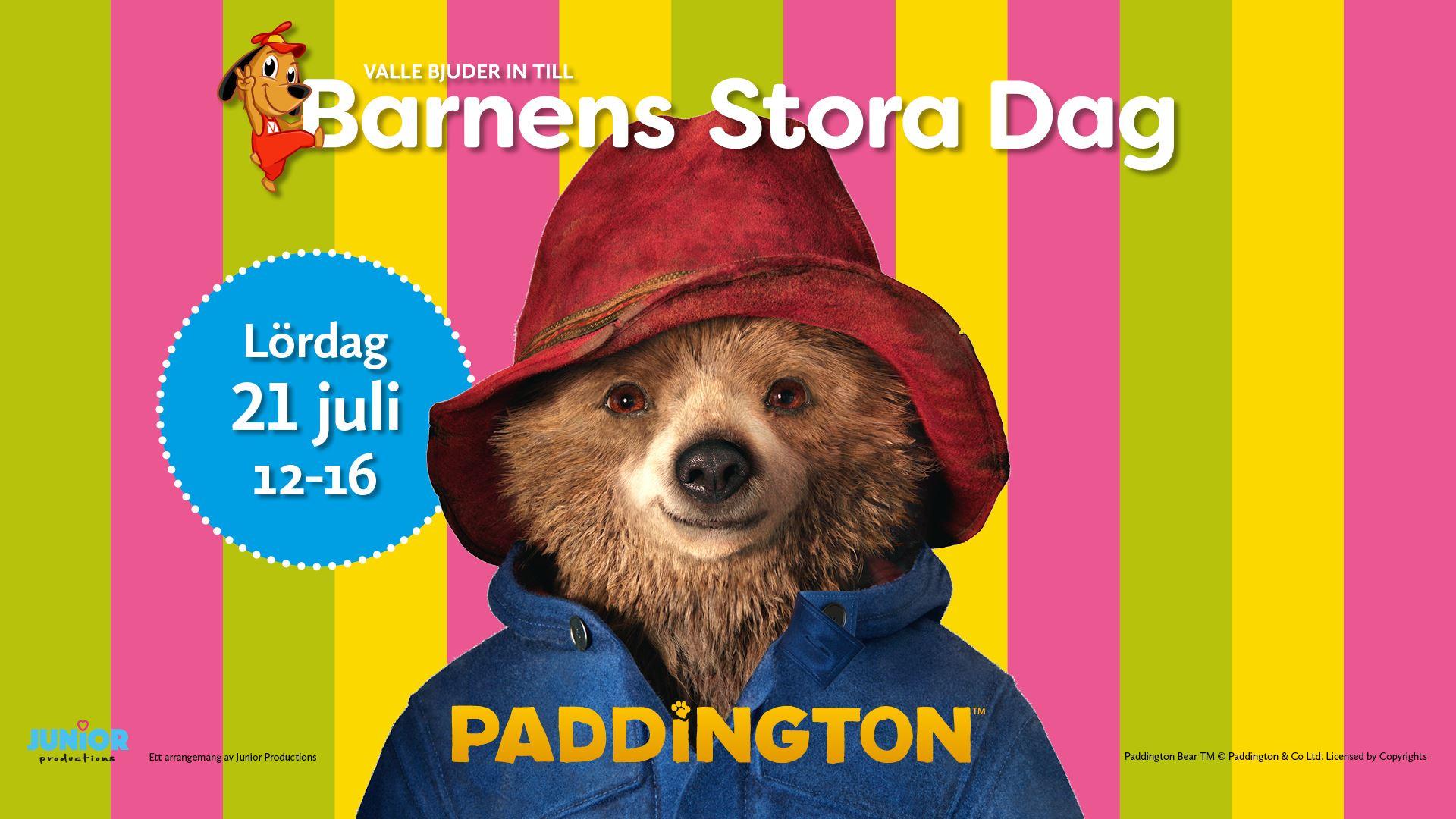 Barnens Stora dag - Paddington besöker Valbo Köpcentrum