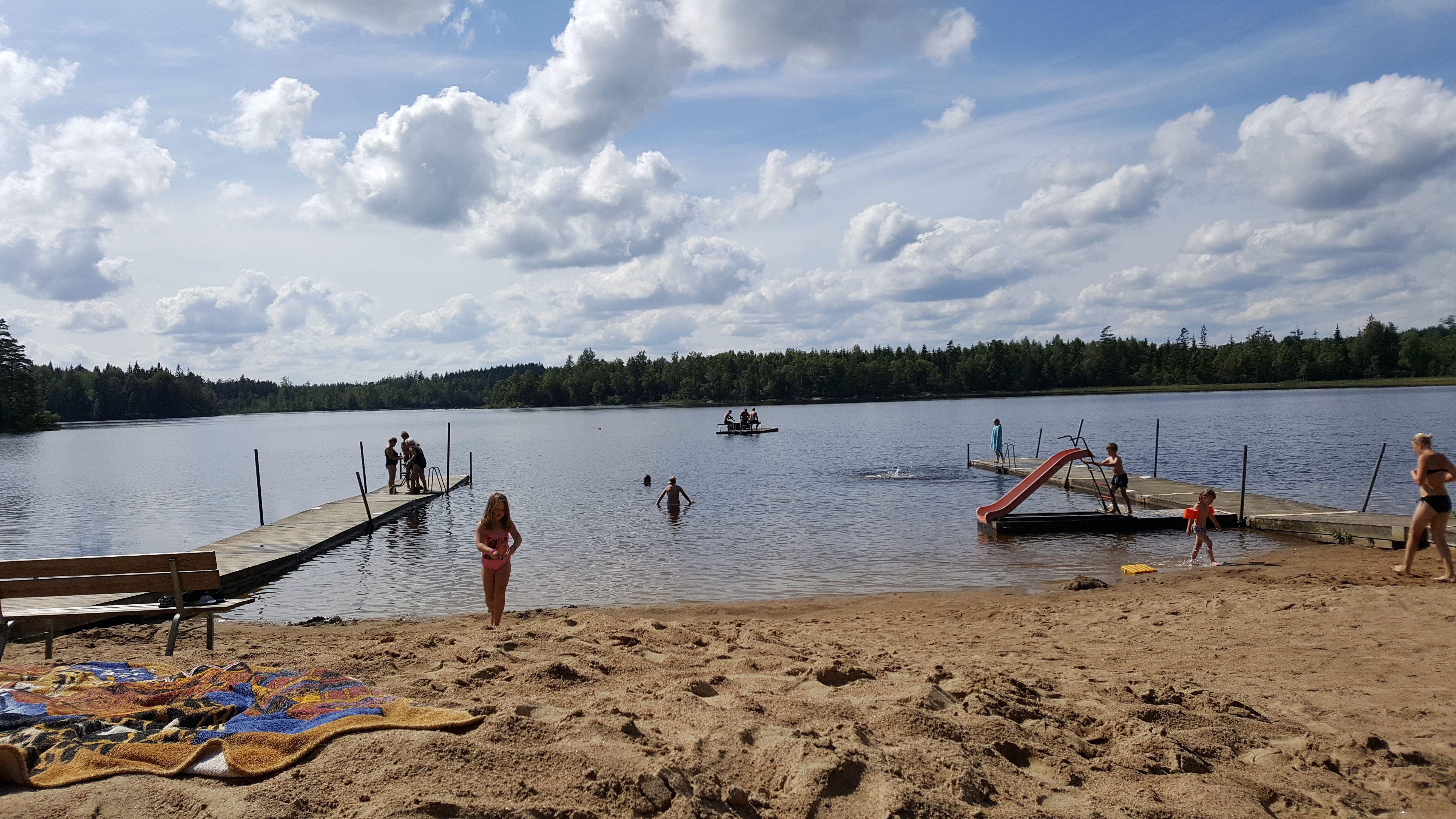 Badplats i Kuppersmåla - Kuppersjön