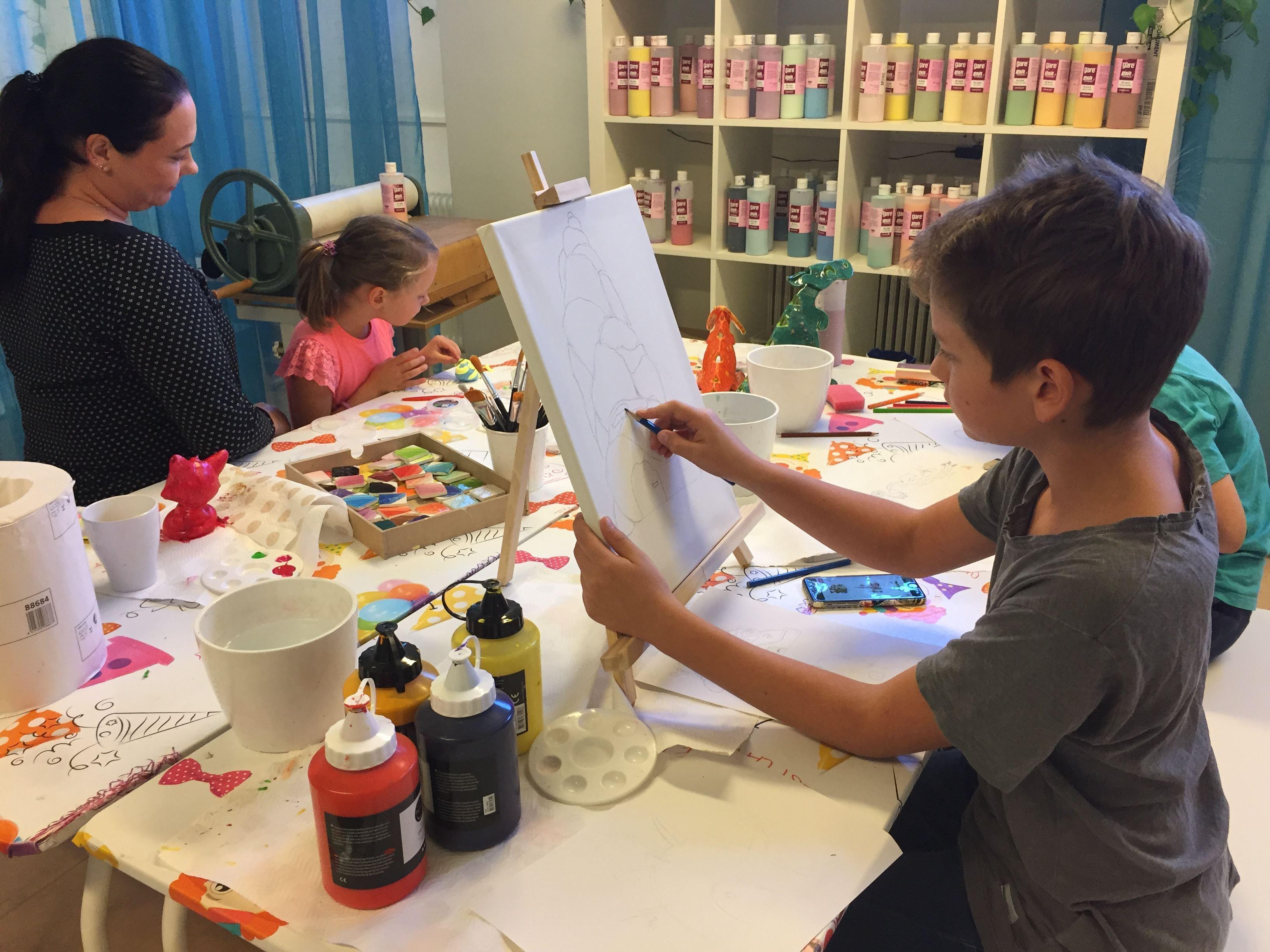 Kreativa - plaster and ceramic painting