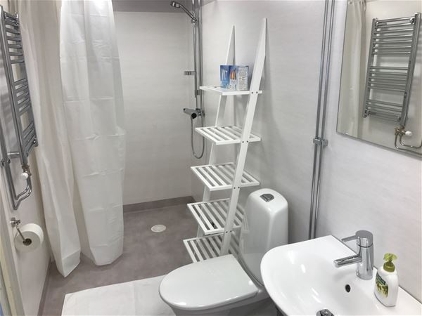 Bath room with shower