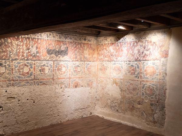 Montpellier médiéval et la chambre peinte de l'Hôtel de Gayon