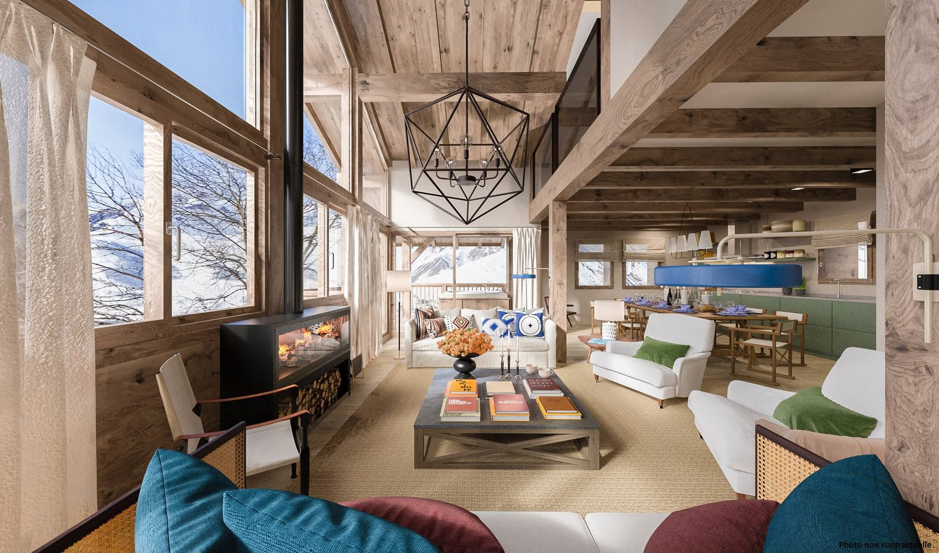 5 Room 8 Pers ski-in ski-out / CASEBLANCHE E15