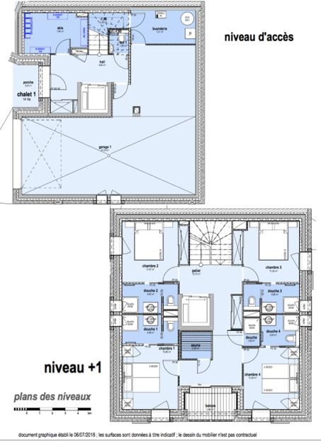 8 Room 14 Pers ski-in ski-out Chalet / CASEBLANCHE M1