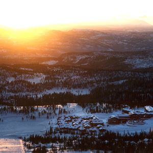 Sunset from the slopes