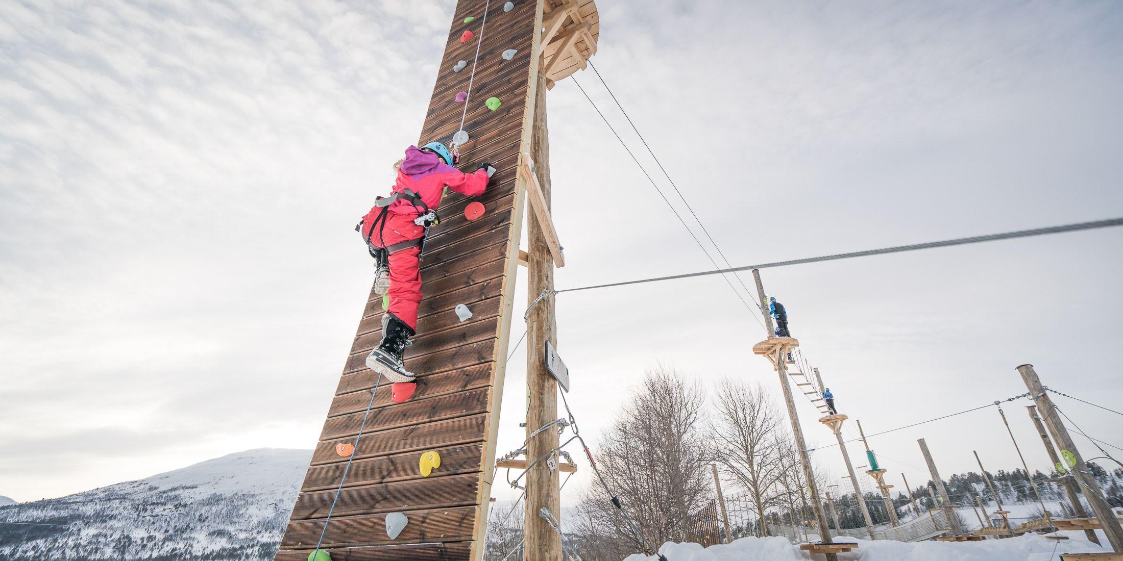 Høyt & lavt klatrepark på Bjorli