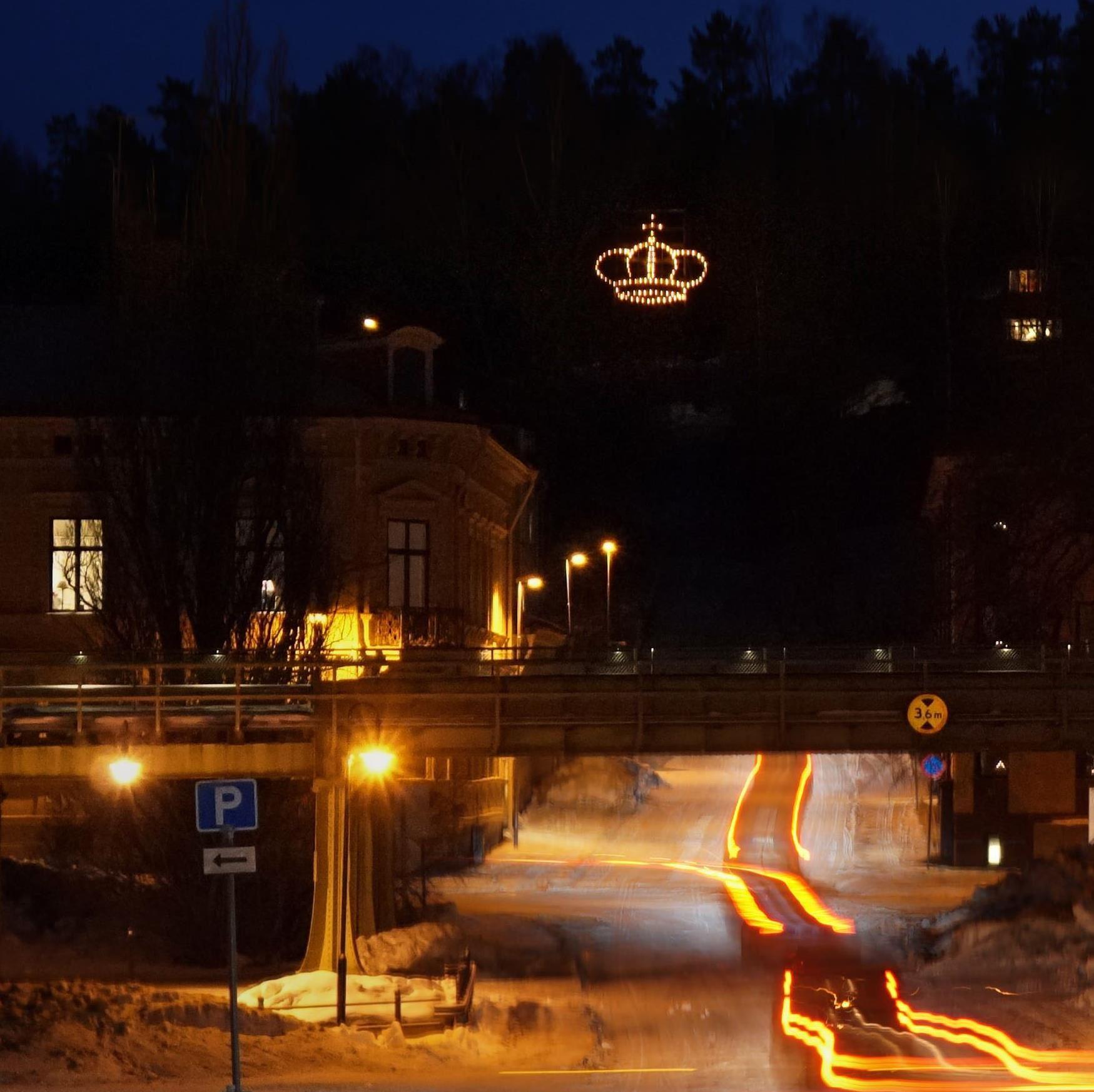 Kungakronan, ljuständning, Söderhamn