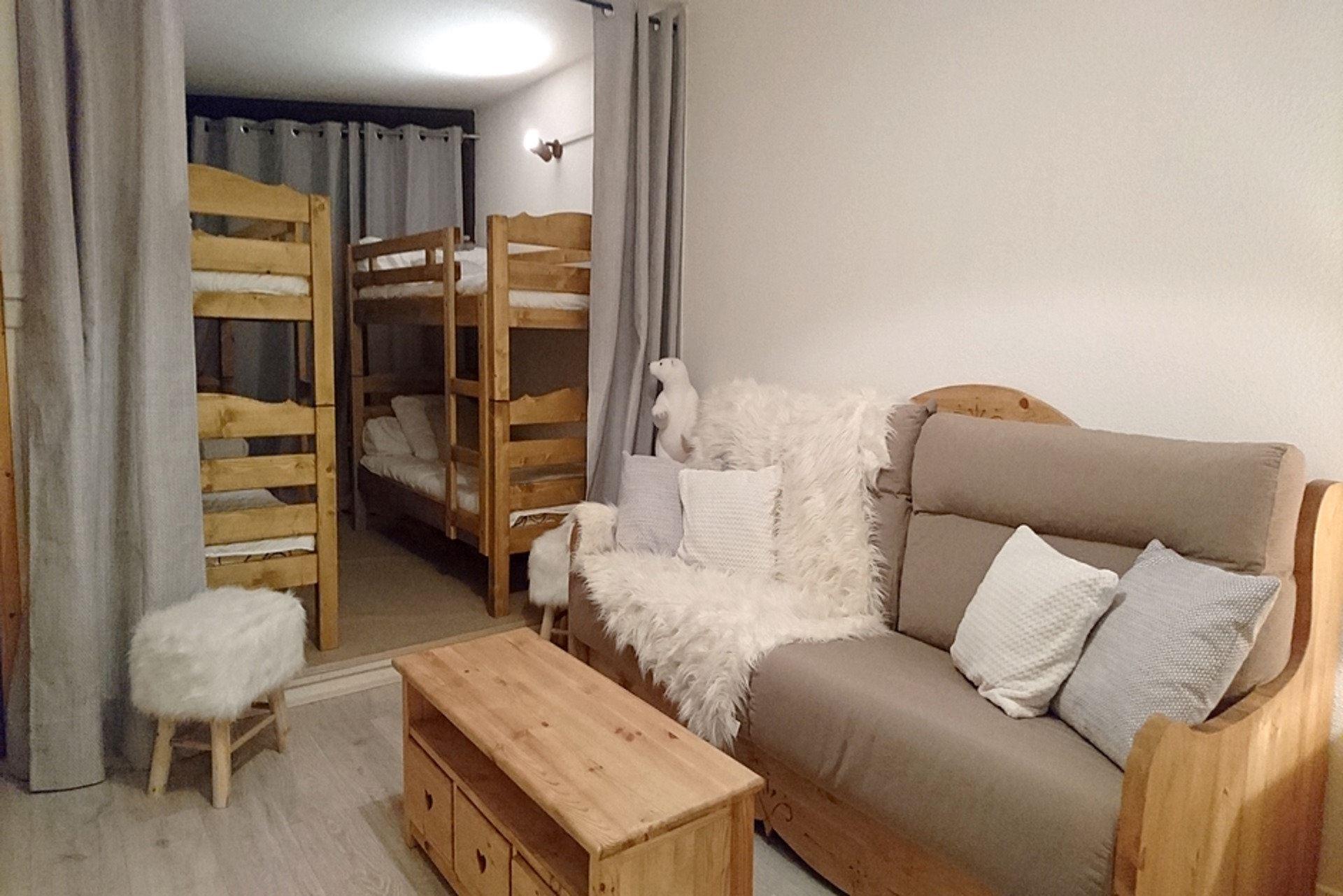 3 Rooms 8 Pers ski-in ski-out / CARON 109