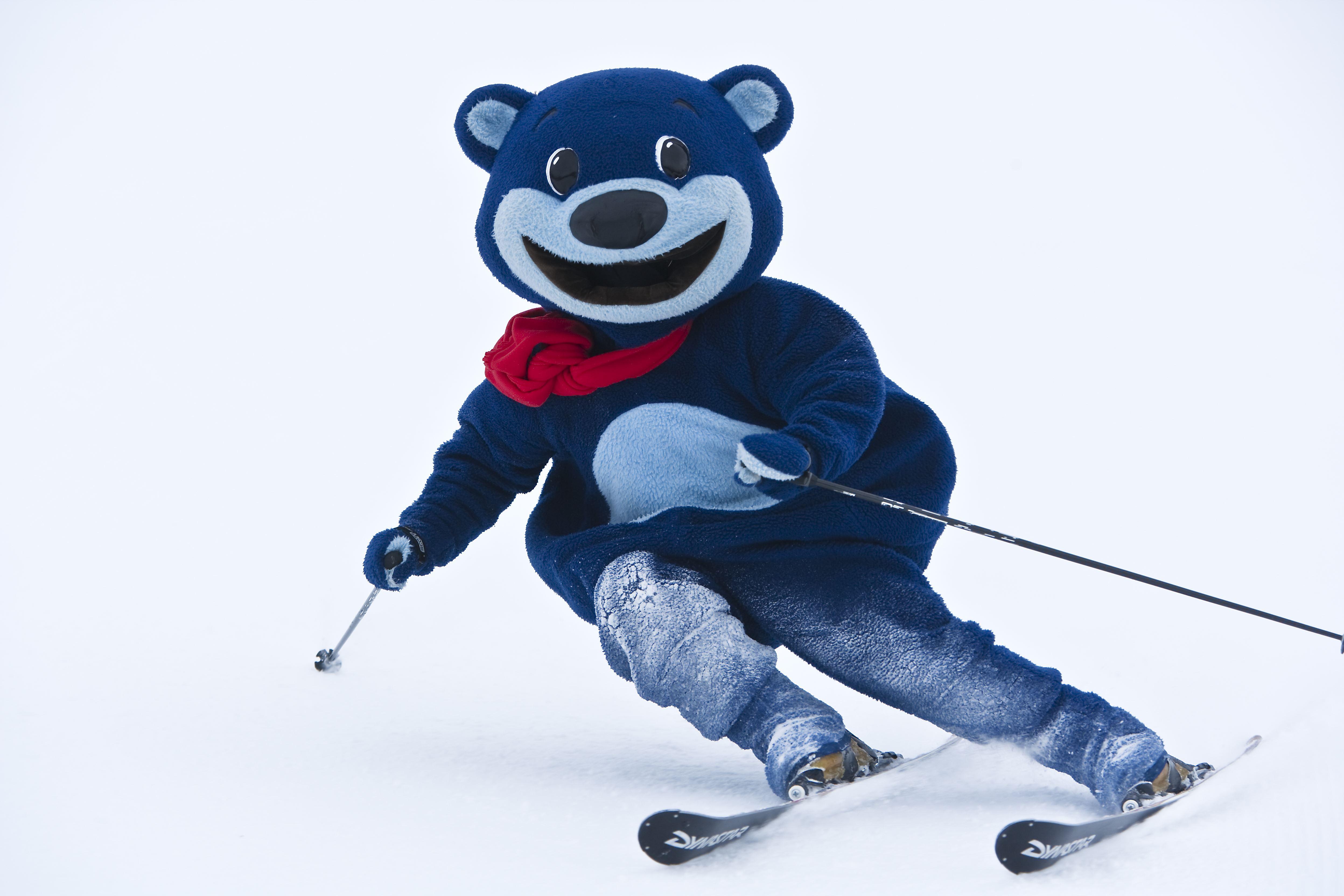 Loffe åker skidor