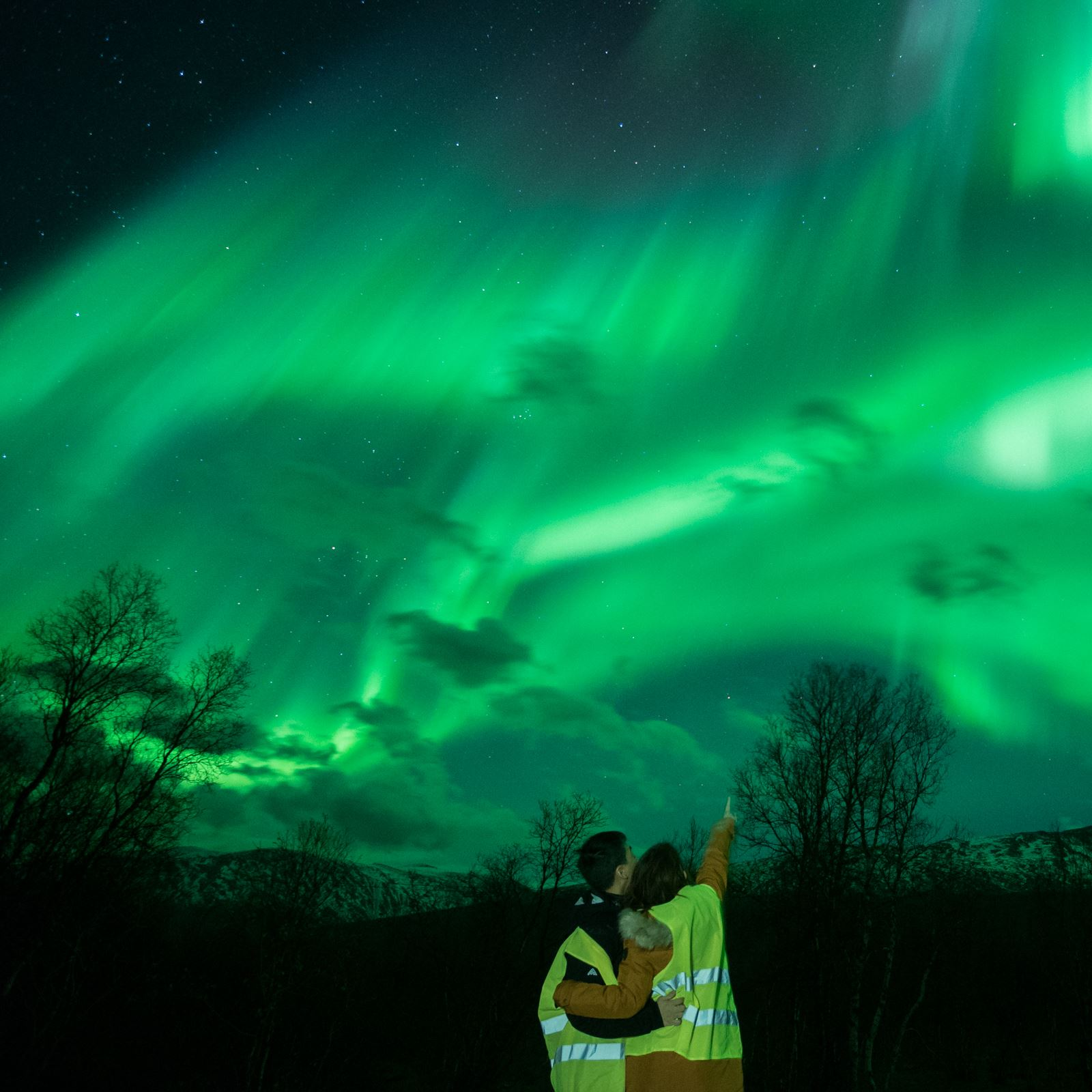Northern Lights Chase by small van - Tromsø Individuell
