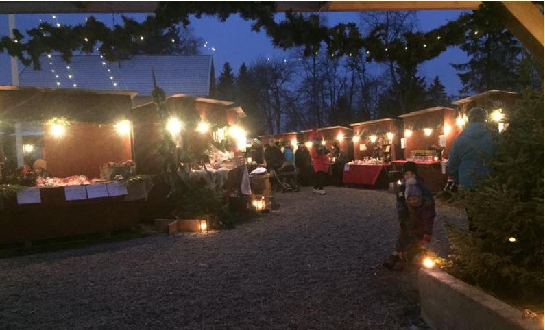 Julmarknad på Bruksgodset