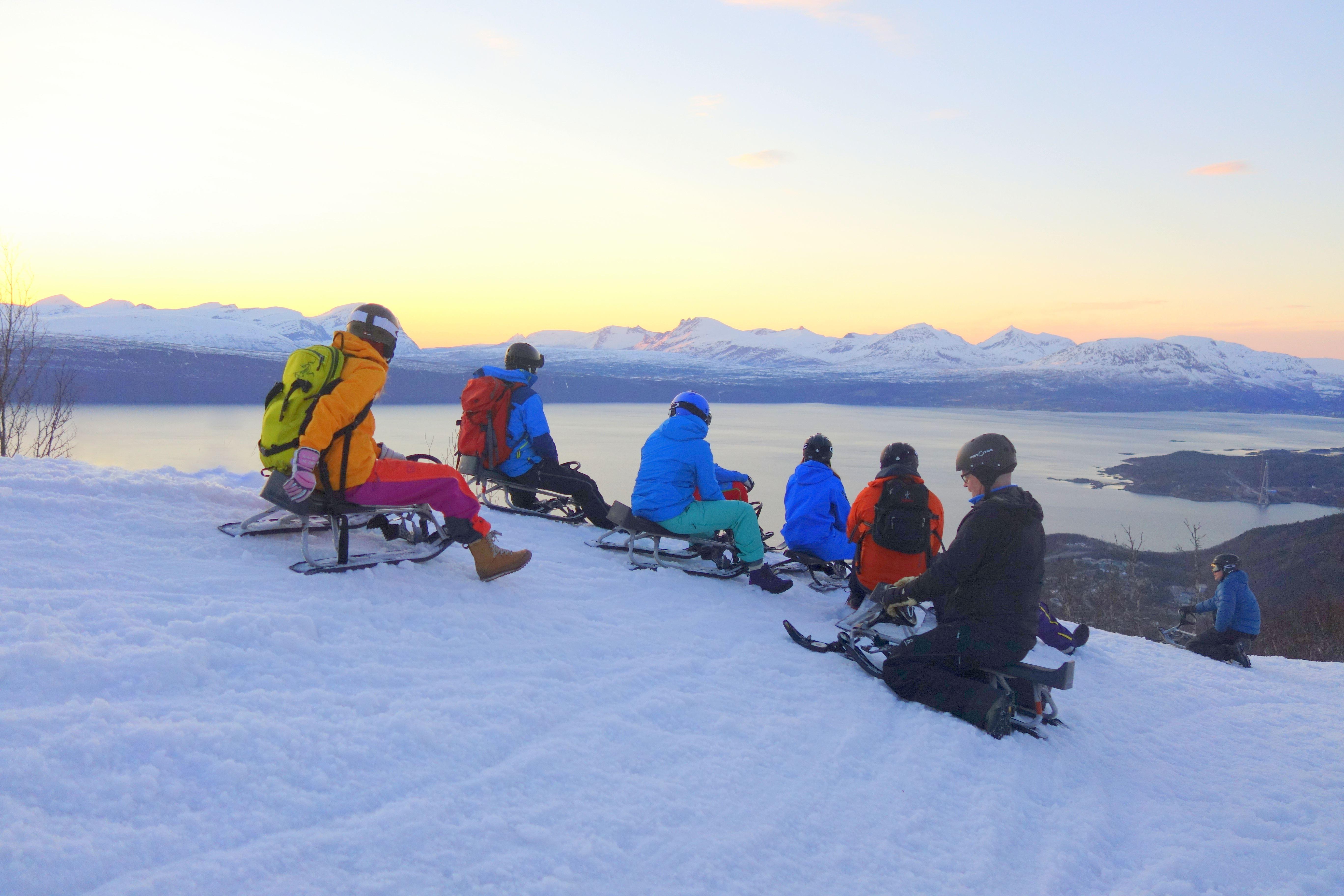 Snow racing in Narvikfjellet