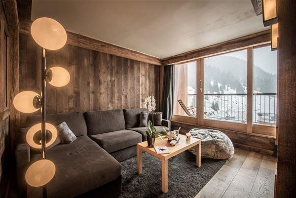 2 pièces cabine 4 personnes skis aux pieds / Ariondaz 174B / Séjour Sérénité