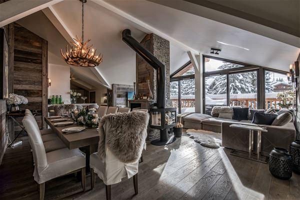 4 pièces 8 personnes, skis aux pieds / Belvédère Penthouse (Montagne d'Exception) / Séjour Sérénité