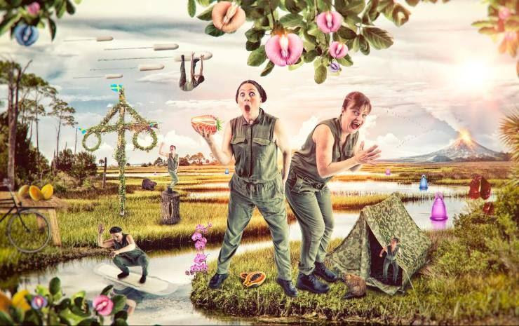 Pondus Kommunikation,  © Glugg Produktion,  UNDER [är jag] BAR - Glömda ängsmarker kartläggs i en bejublad teaterföreställning om vaginan!