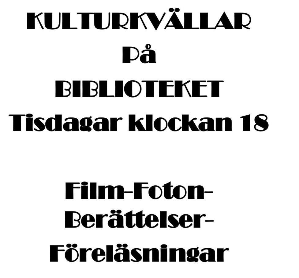 Kulturkvällar på Biblioteket i Tärnaby