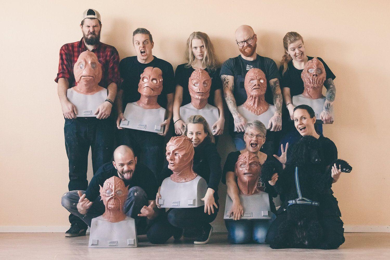 10-day silicone mask making workshop at Helsinglight FX - Sweden