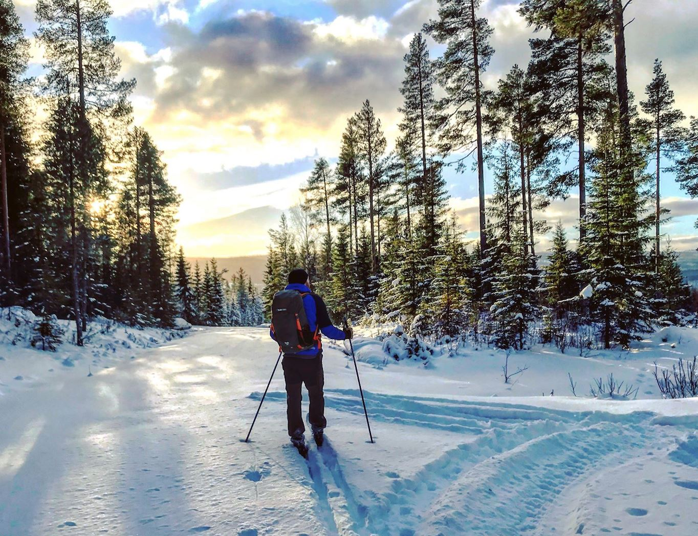 Yogaretreat and touring skis