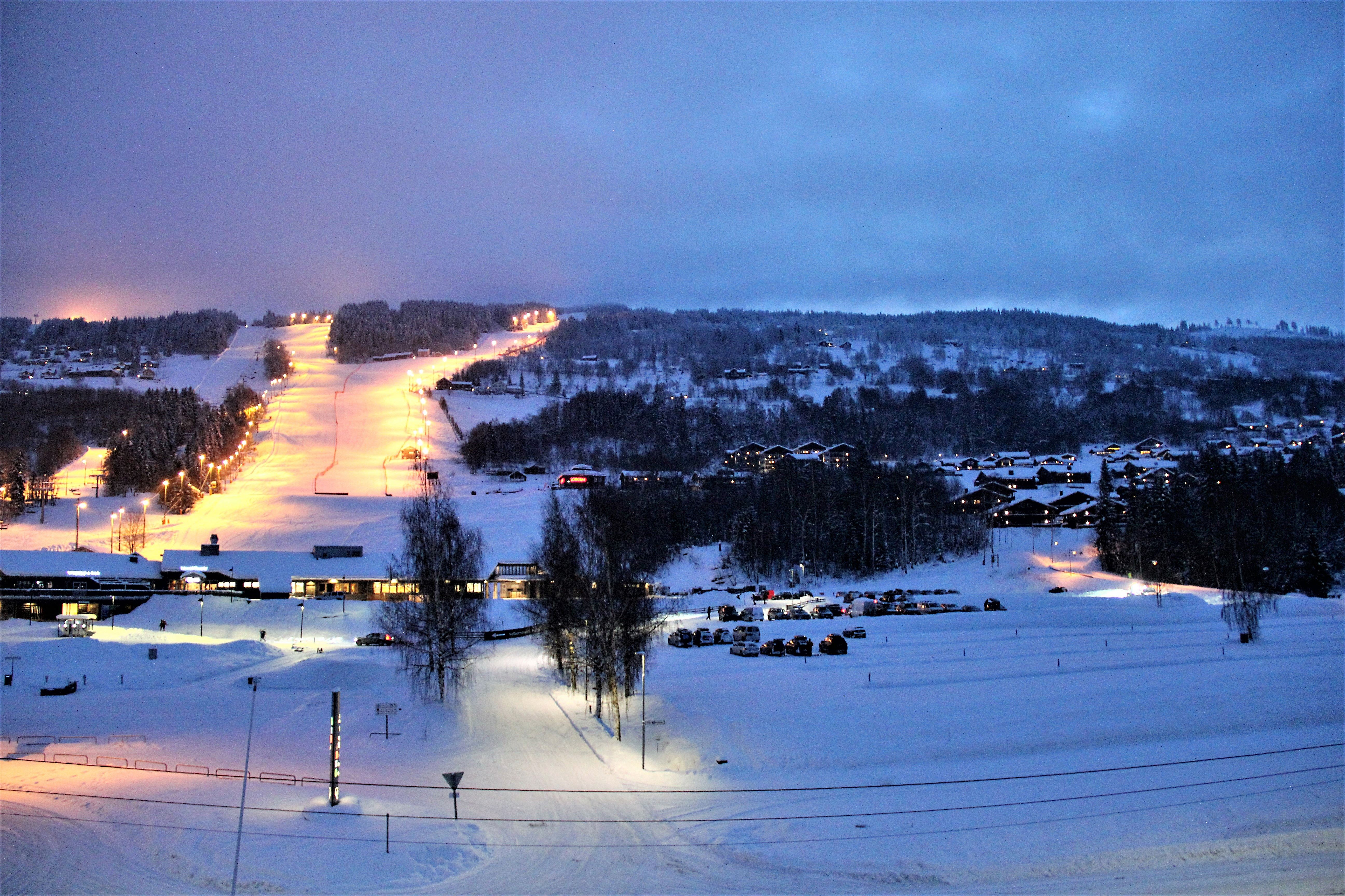 Kveldskjøring i Hafjell Alpinsenter