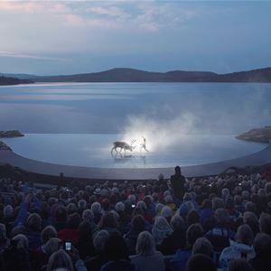 Bård Gundersen, illustrasjonene av scenen MIR/Snøhetta., Peer Gynt Festival in Norway